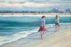 """Sand Dollar Spit, oil on canvas, 24 x 30"""""""