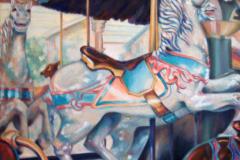 """Ontario Beach Carousel, oil on canvas, 30 x 24"""""""