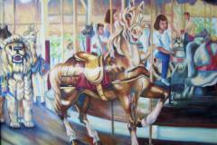 """Ontario Beach Carousel II, oil on canvas, 16 x 20"""""""