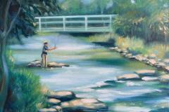 """Beaverkill Vallery, oil on canvas, 14 x 18"""""""