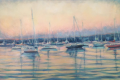 "Sag Harbor at Dusk II, oil on canvas, 24 x 30"""