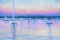 """Sag Harbor at Dusk, oil on canvas, 24 x 30"""""""